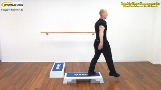 Double Step Choreography: Zwei Steps rechtwinklig positioniert