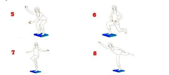 Propriozeptives Training: Sequenzen 5 - 8