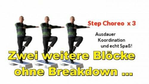 Step Choreo: Weitere zwei Blöcke