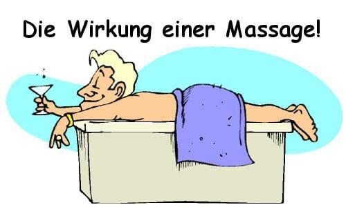 Wirkung einer Massage