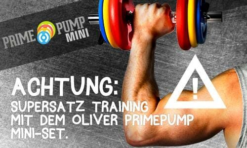 Supersatz Training mit dem PrimePump Mini-Set