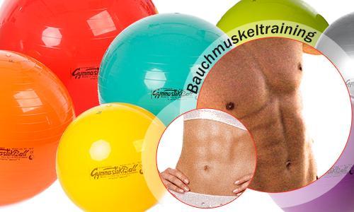 Bauchmuskeltraining mit dem Gymnastikball