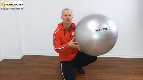 Fertig aufgepumpter Ball