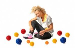 Igelball Übungen für Hände, Füße und Faszien