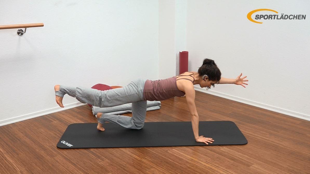 Yoga für den Bauch Anfänger Übung im Vierfüßler Stand Ausgangsposition