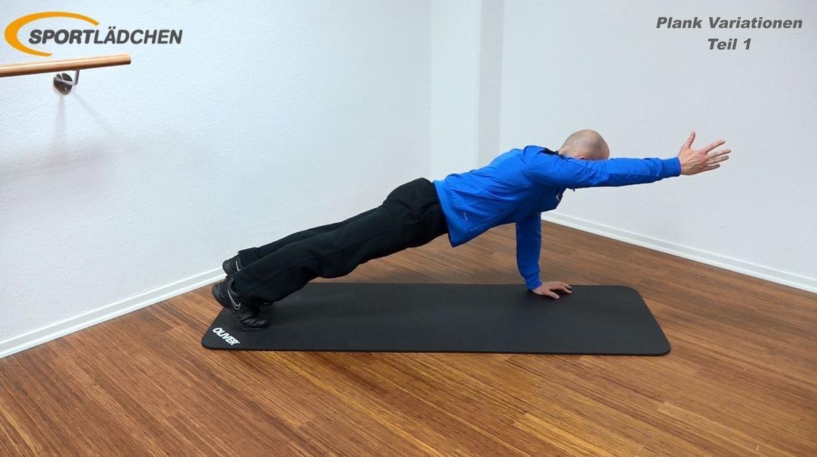 Plank Übung - Arm anheben in der Liegestützposition