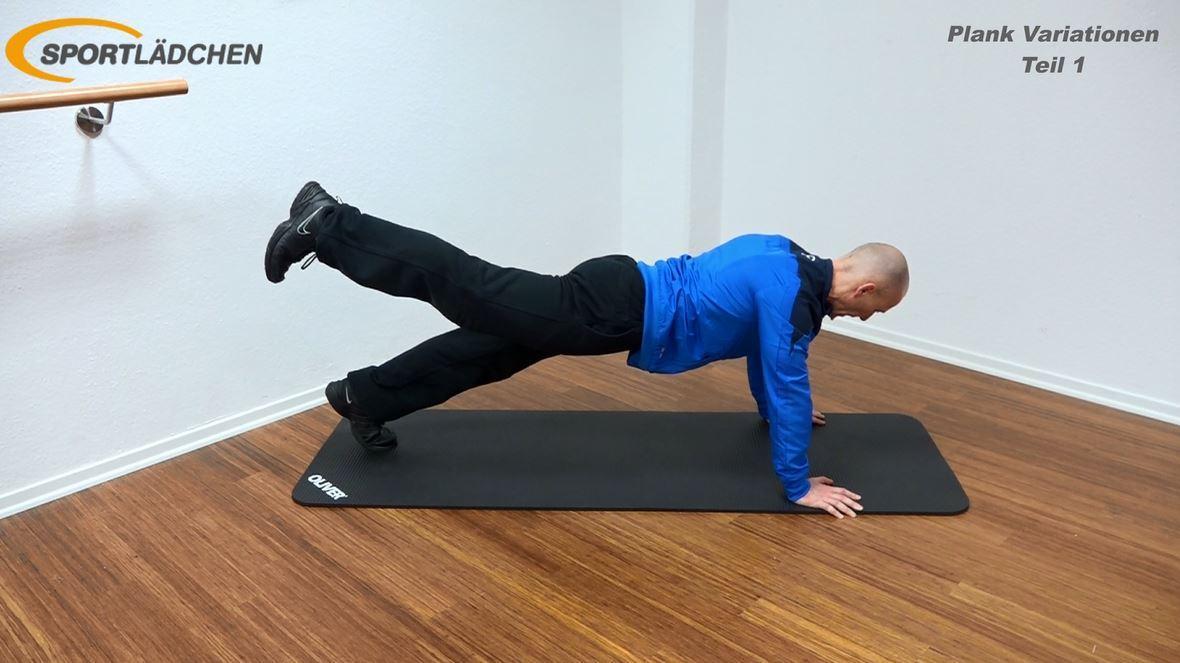 Plank Übung - Beinheben im Stütz