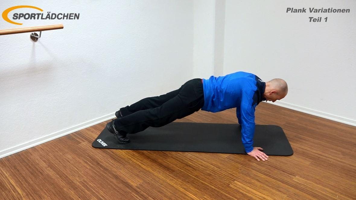 Plank Übung Rotation in der Liegestützposition Start