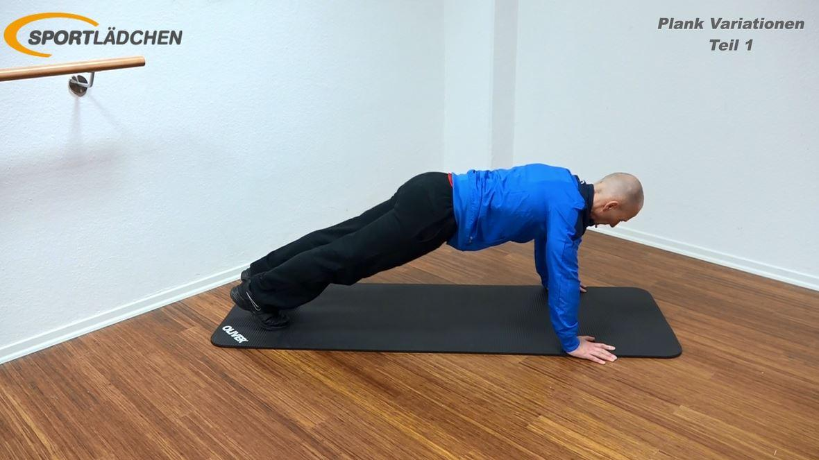 Plank Übung Rotation mit Liegestütz 1
