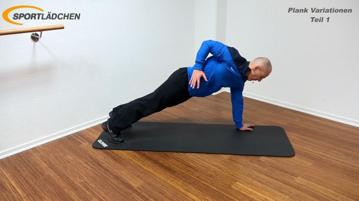Plank Übung - Ellenbogen nach oben ziehen in der Liegestützposition