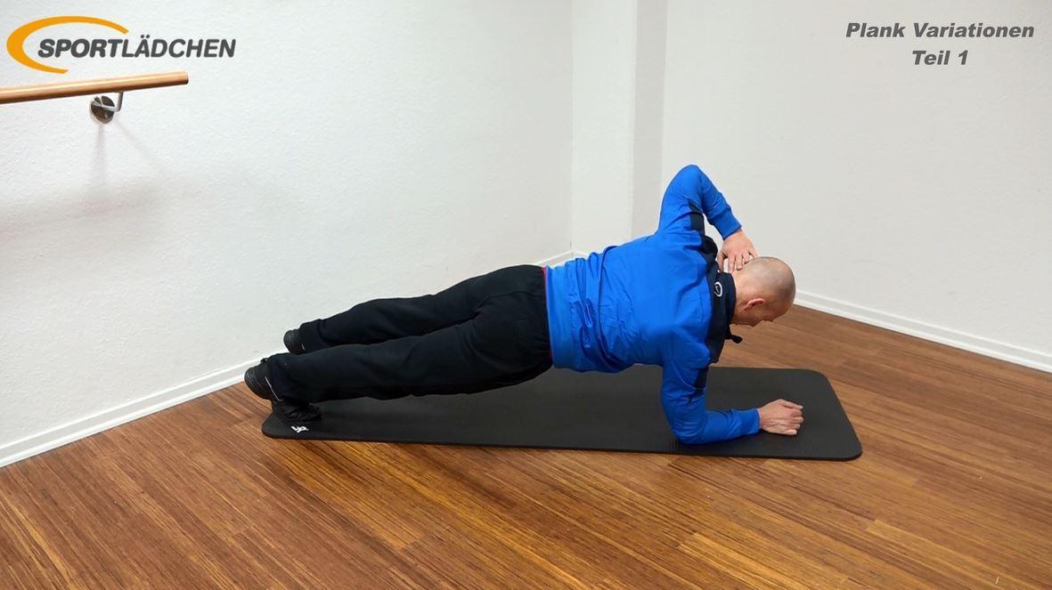lank Übung - Hand im Nacken - Statisch halten