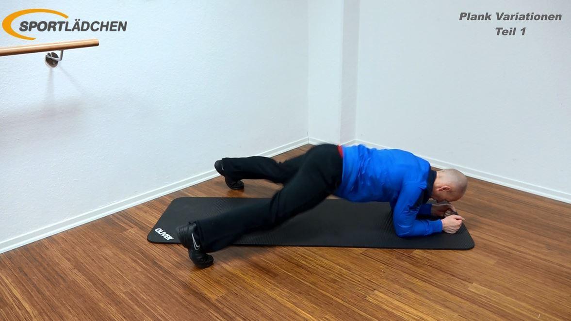 Plank Übung - Jumping Jacks Ende