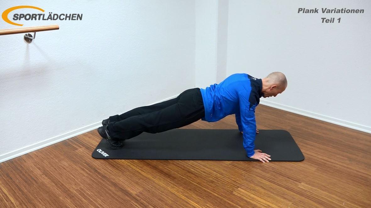 Plank Übung - Leichte Variation in der Liegestützposition