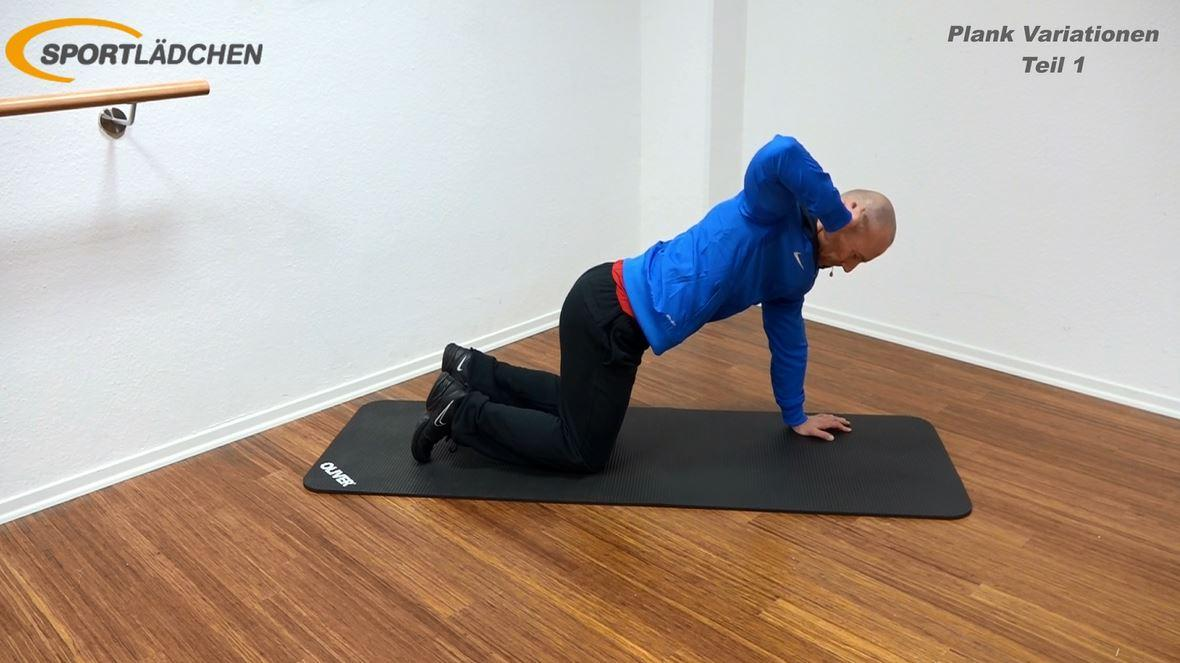 Plank Übung - Rotation im Kniestand 1