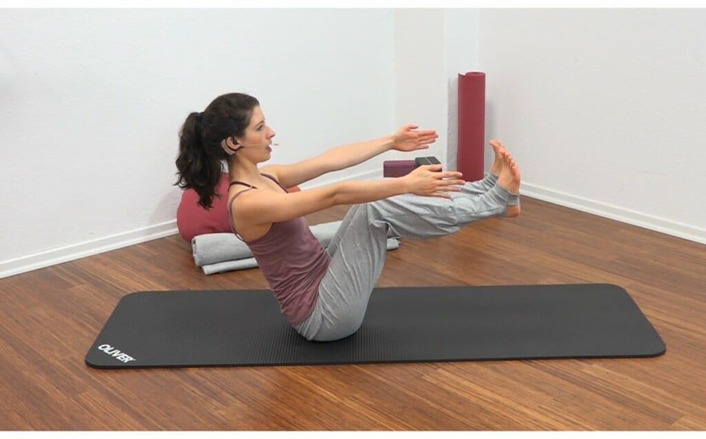 Yoga für den Bauch Anfänger: Bootsstellung (Navasana)