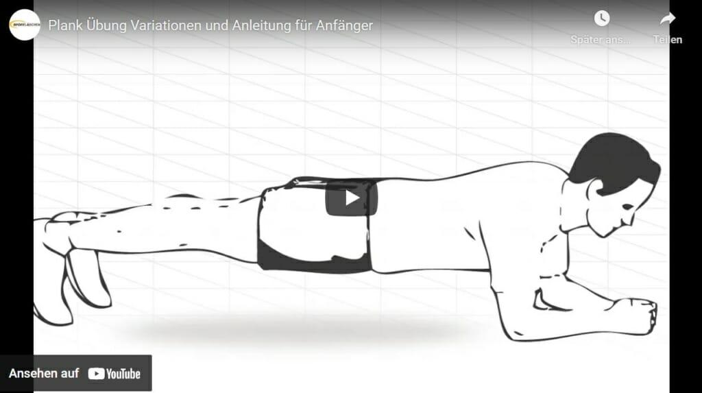 Illustration eines Mannes, der die Plank Übung ausführt