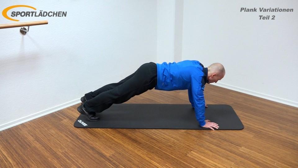 Plank Übung effektiv Arm und Bein diagonal heben 1