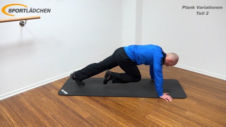 Plank Übung effektiv Bergsteiger 1
