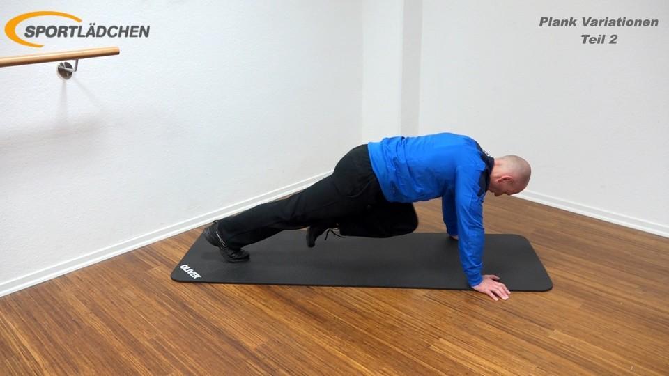Plank Übung effektiv Bergsteiger 2