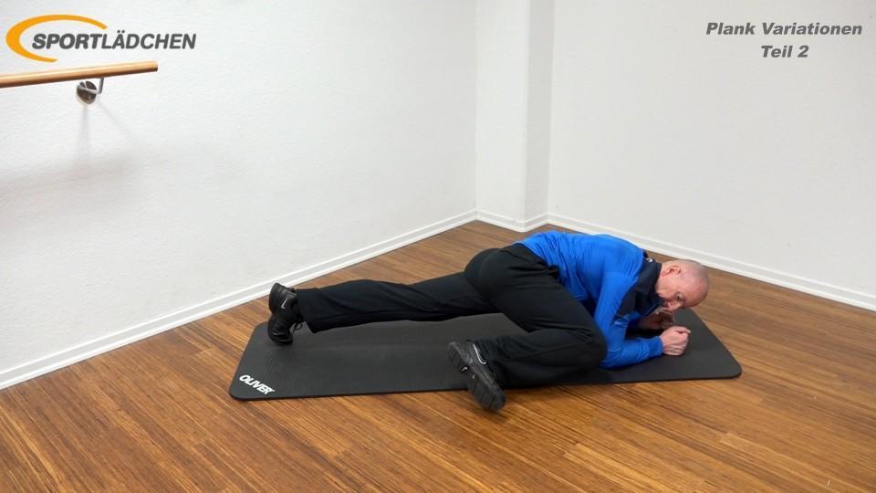 Unterarmstütz Kniee nach aussen (Spider Plank 2