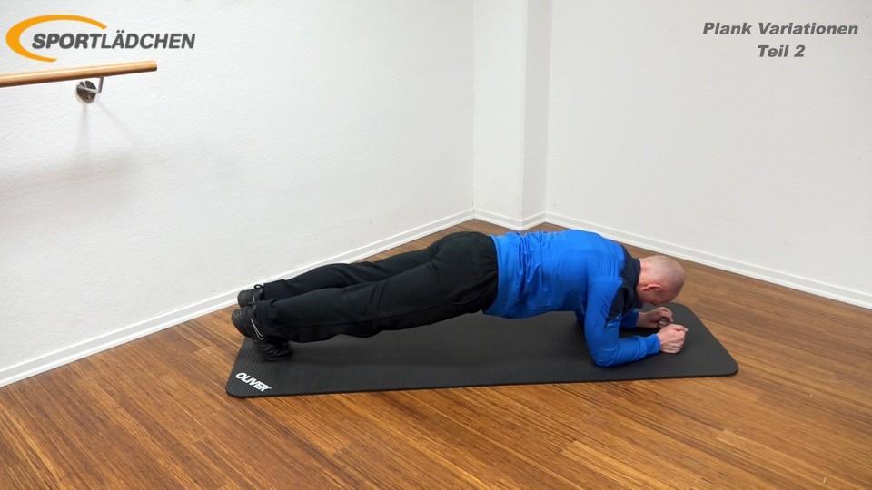 Unterarmstütz Knie nach aussen Spider Plank 1 1