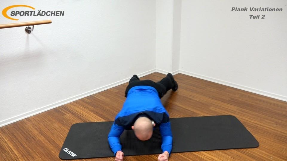 Unterarmstütz Seitwärtsbewegung (Plank Side Travel) 3