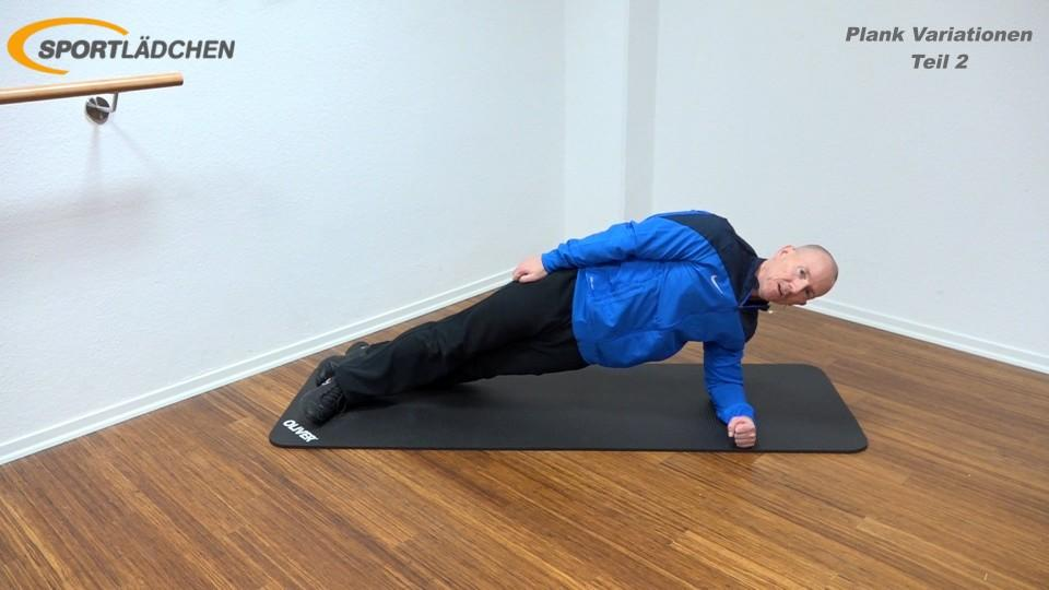 Side Plank Standard in der Endposition