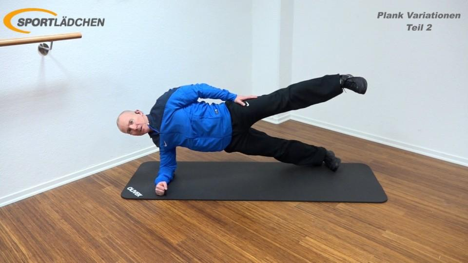 Side Plank advanced in der Endposition