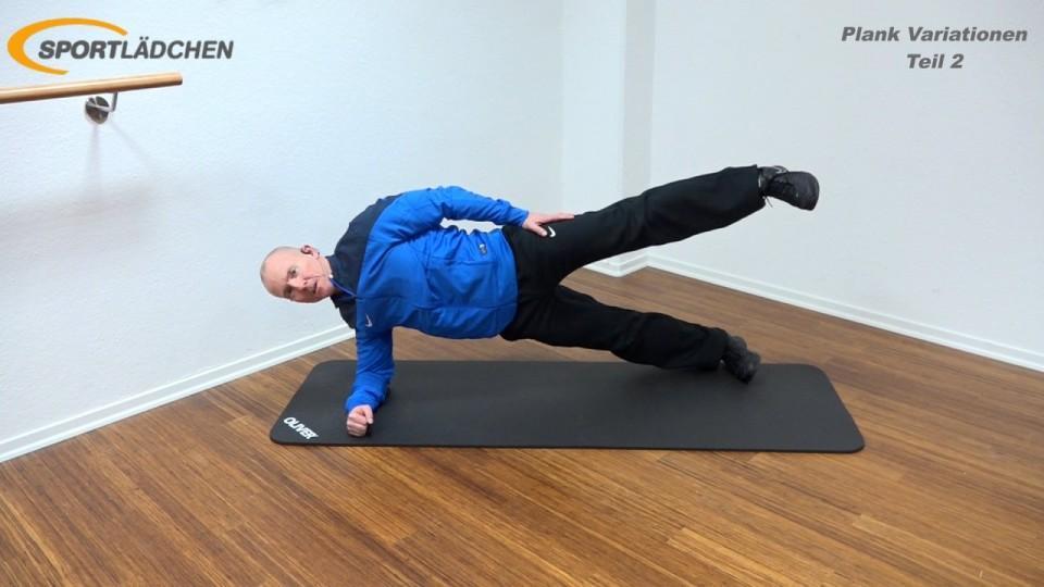Side Plank advanced in der Endposition