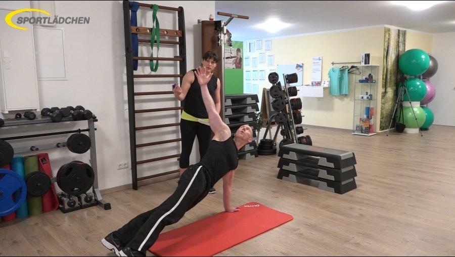 7 Minuten Workout Liegestuetz Push up mit Rotation 3