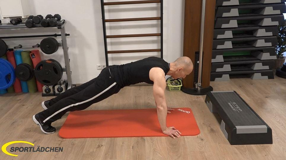 Plank to push up Ausgangsposotion