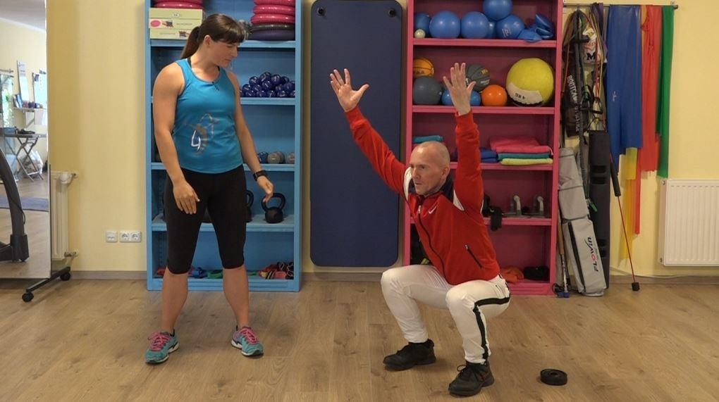 Kniebeuge Tutorial: Technik und Ausführung - Hier die Endposition der Übung