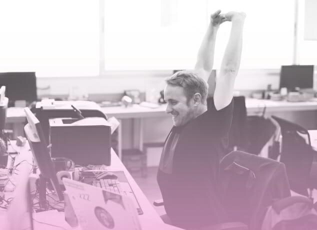 Tipps fuer mehr Bewegung am Arbeitsplatz