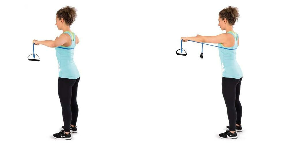Trainingsband Bodytube Brusttraining