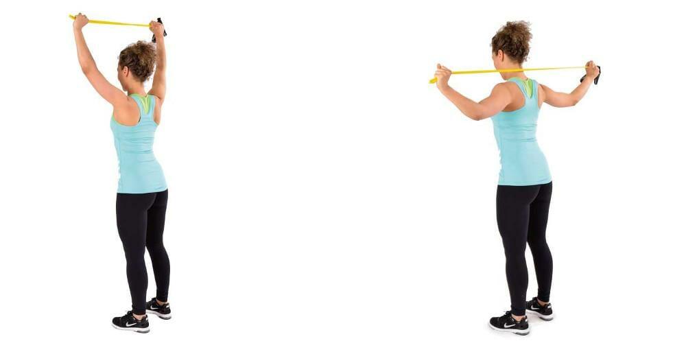 Trainingsband Bodytube Nackenziehen Rueckentraining