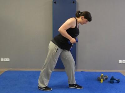 Hantel Workout Kickbacks 5a