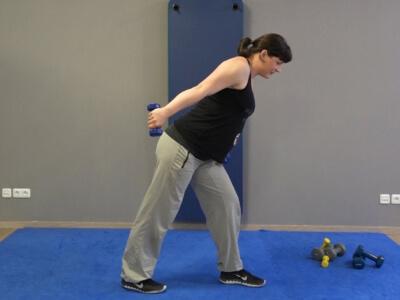 Hantel Workout Kickbacks 5b