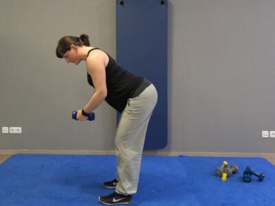 Hantel Workout Seitheben vorgebeugt 6a