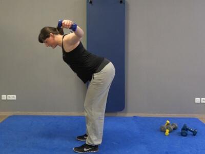 Hantel Workout Seitheben vorgebeugt 6b