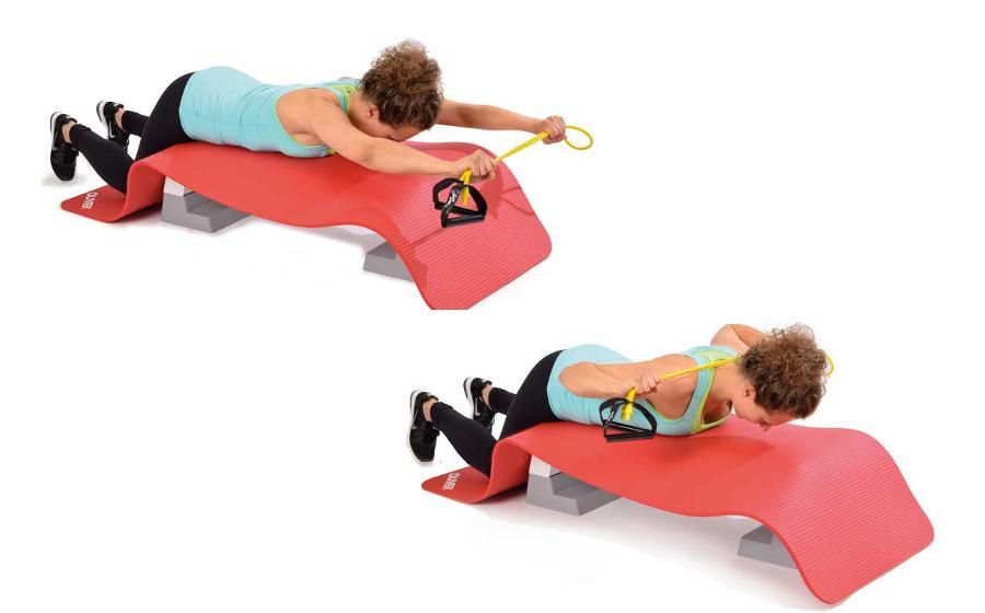 Trainingsband Variation oberer Rücken (Bodytube)