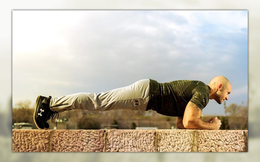 Was sind die Vorteile eines isometrischen Trainings? Foto-beispiel: Der Plank