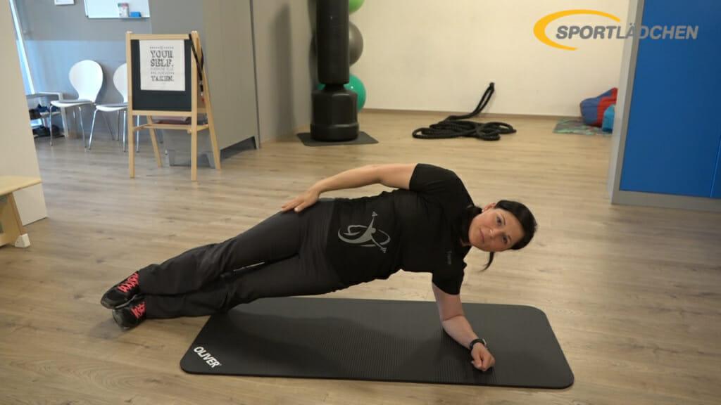 Side Plank Seitstuetz Variation 1a