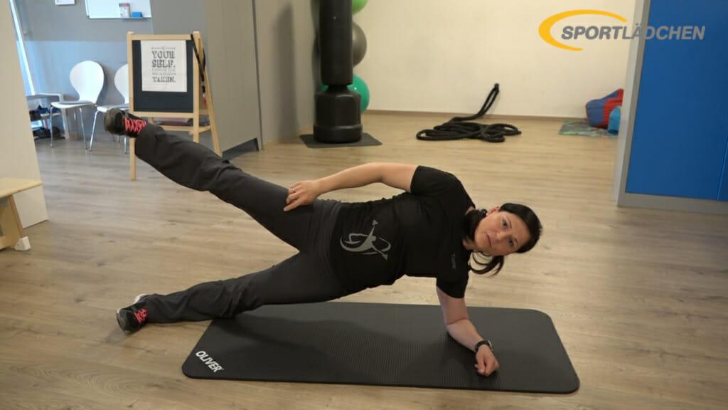 Side Plank Seitstuetz Variation 1b
