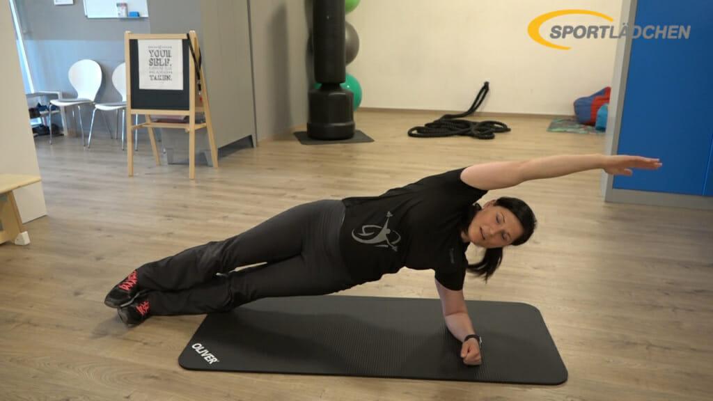 Side Plank Seitstuetz Variation 2a