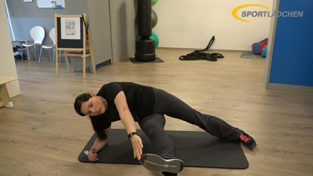 Side Plank Seitstuetz Variation 5b