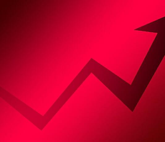 Nach oben zeigender Trendpfeil