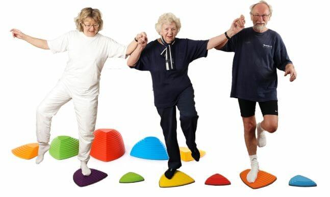 Senioren Alltag - Aktive ältere Menschen beim Sport