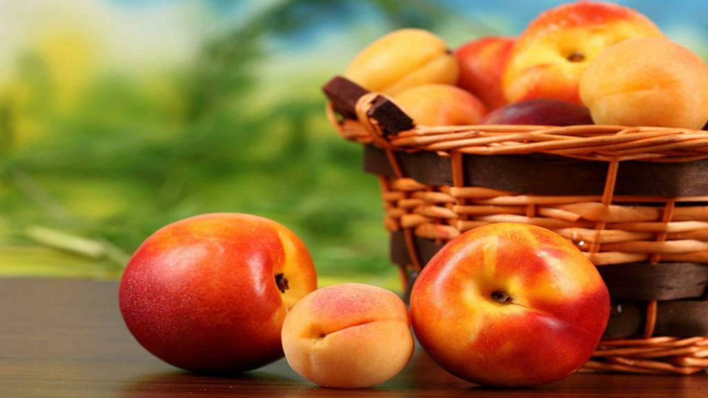 Pfirsische, Äpfel und Aprikosen: Ideale und gesunde Fitness Snacks