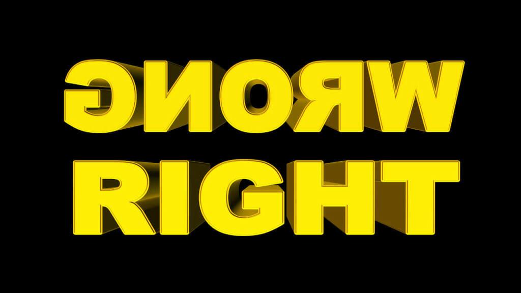 """Die größten Fitness Mythen: Dazu passt dieser Schriftzug """"Wrong Right"""" in dicken gelben Buchstaben auf schwarzem Hintergrund!"""