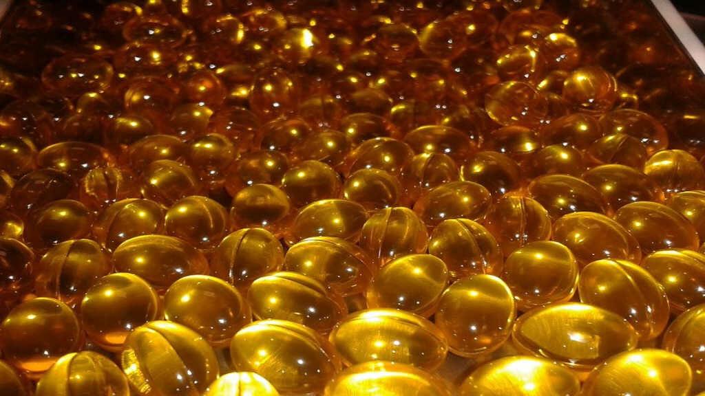 Nahrungsergänzung Vitamin E Gelatine Kapseln